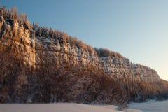 Widok od dna do góry Zima, Rosja Urals Zdjęcie Stock