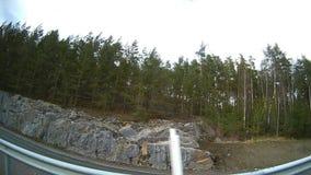 Widok od dobra samochodowy okno podczas gdy jadący w autostradzie zdjęcie wideo
