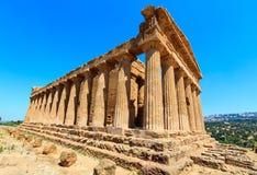 Widok od doliny świątynie, Agrigento, Sicily, Włochy Zdjęcia Royalty Free