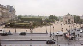 Widok od drugiego piętra louvre miejsce Du Carrou Obrazy Royalty Free