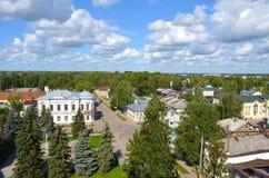 Widok od dzwonkowy wierza katedra wniebowzięcie w Veliky Ustyug Rosja zdjęcie royalty free