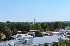 Widok od dzwonkowy wierza katedra wniebowzięcie w Veliky Ustyug Rosja obraz royalty free