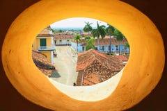 Widok od dzwonkowy wierza okno Zdjęcie Stock