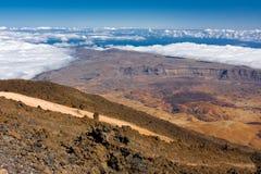 Widok od El Teide zdjęcia stock