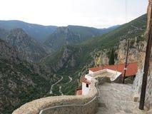 Widok od Elonas monasteru zdjęcia royalty free