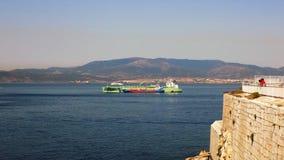 Widok od europa Gibraltar Zdjęcie Royalty Free