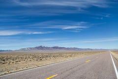 Widok od Extraterrestrial autostrady w Nevada fotografia royalty free