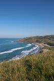 Widok od falez Dzika wybrzeże plaża, Transkei, Południowa Afryka Obraz Stock