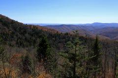 Widok od Fetterbush Przegapia w Pólnocna Karolina Zdjęcia Royalty Free