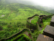 Widok od fort ściany obraz royalty free