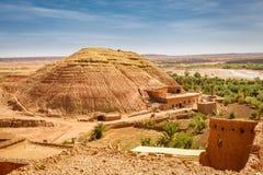 Widok od fortecy Ait Ben Haddou, Maroko Zdjęcie Royalty Free