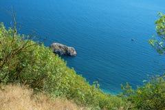Widok od gór morze Zdjęcia Stock