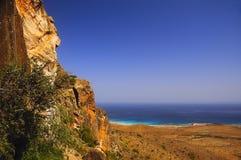 Widok od gór morze Zdjęcie Royalty Free