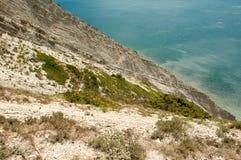 Widok od gór morze Obraz Stock