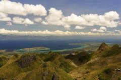 Widok od gór tropikalny morze Obraz Stock