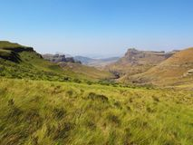 Widok od gór, uKhahlamba Drakensberg park narodowy fotografia royalty free