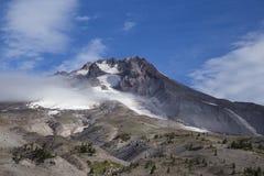 Widok od góra kapiszonu od Timberline stróżówki, Oregon Obrazy Royalty Free