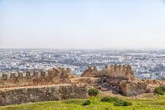 Widok od góry afrykański schronienia miasto Agadir Obraz Stock