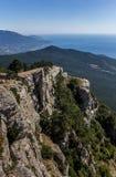 Widok od góry Ai Petri blisko Yalta Fotografia Royalty Free