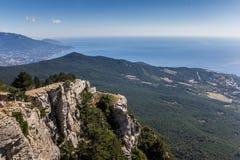 Widok od góry Ai Petri blisko Yalta Zdjęcia Royalty Free