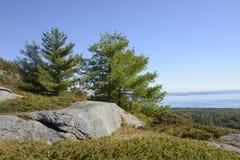 Widok od góry Battie w Camden Maine Zdjęcie Stock