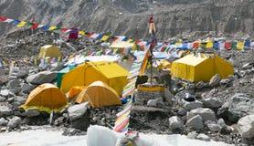 Widok od góry Everest podstawowego obozu Zdjęcie Royalty Free