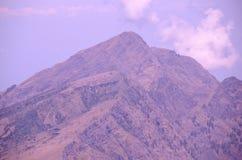 Widok od góry Rinjani, brać z rybiego oka obiektywem, góra Rinjani jest aktywnym wulkanem w Lombok, Indonezja zdjęcie royalty free