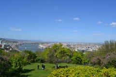 Widok od Gellért wzgórza w Budapest Obraz Stock