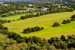 Widok od grodowego Blankenstein nad Ruhr doliną obraz royalty free