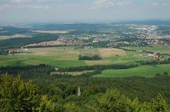 Widok od grodowego Hohenzollern, Niemcy Fotografia Stock