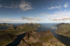 Widok od Grytetippen góry, Senja, Norwegia Obraz Royalty Free