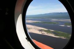 Widok od helikopteru Zdjęcia Royalty Free
