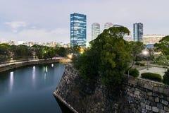 Widok od Himeji kasztelu przy nocą zdjęcie royalty free