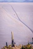 Widok od Isla Incahuasi, Uyuni, Boliwia Obrazy Stock