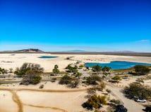 Widok Od Islas Del Mącący pola golfowego W kierunku Pinacate biosfery Obrazy Royalty Free