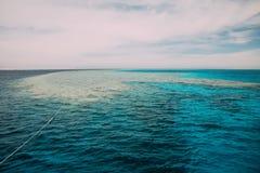 Widok od jachtu ruchu drogowego na morzu Fotografia Royalty Free