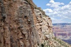 Widok od Jaskrawego anioła śladu przy Uroczystego jaru parkiem narodowym Arizona Obrazy Stock