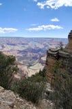 Widok od Jaskrawego anioła śladu przy Uroczystego jaru parkiem narodowym Arizona Obrazy Royalty Free