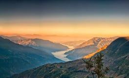 Widok od kalinchok Photeng w kierunku Kathmandu doliny Obrazy Royalty Free
