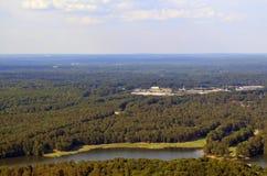 Widok od kamiennej góry Obrazy Stock