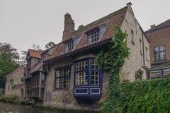Widok od kanału w Bruges Obraz Stock