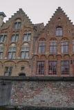 Widok od kanału w Bruges Zdjęcia Royalty Free