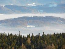 Widok od Karkonosze parka narodowego Zdjęcie Royalty Free