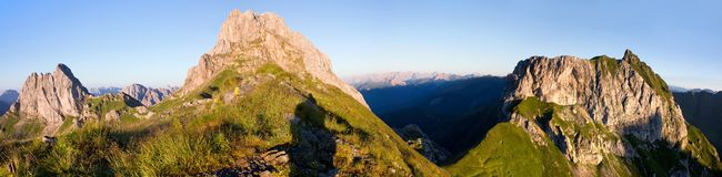 Widok od Karnische Alpen Fotografia Royalty Free