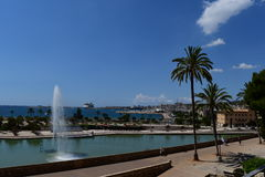 Widok od Katedralnego świętego Maria Palma de Mallorca Zdjęcie Royalty Free