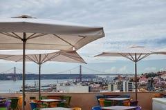 Widok od kawiarni na miasteczku Fotografia Stock