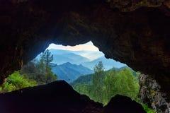 Widok od Kinderlinsky jamy blisko V Ayula wioska Altai republika, Rosja Zdjęcia Royalty Free
