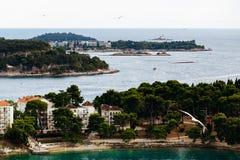 Widok od kościół St Euphemia na wyspie Katarina wyspa, i Obraz Royalty Free