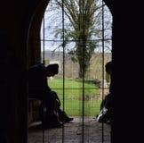 Widok od kościelnego drzwi Obrazy Royalty Free