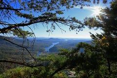 Widok od komin skały Obraz Royalty Free